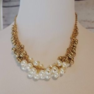 LAST ONE Chunky Pearl Statement Necklace NWT